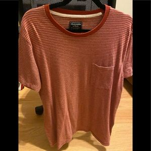 Men's Abercrombie &Fitch Red T Shirt, normal wear